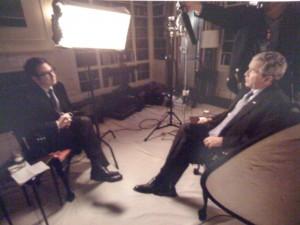 Interviewing Bush